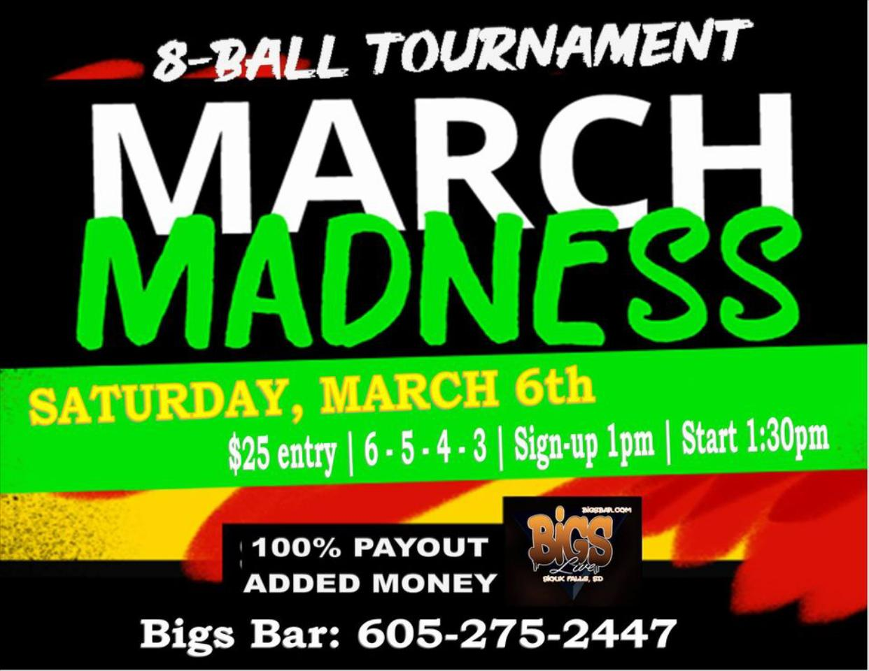 Bigs Bar 3110 W. 12th St. Sioux Falls, SD 57104