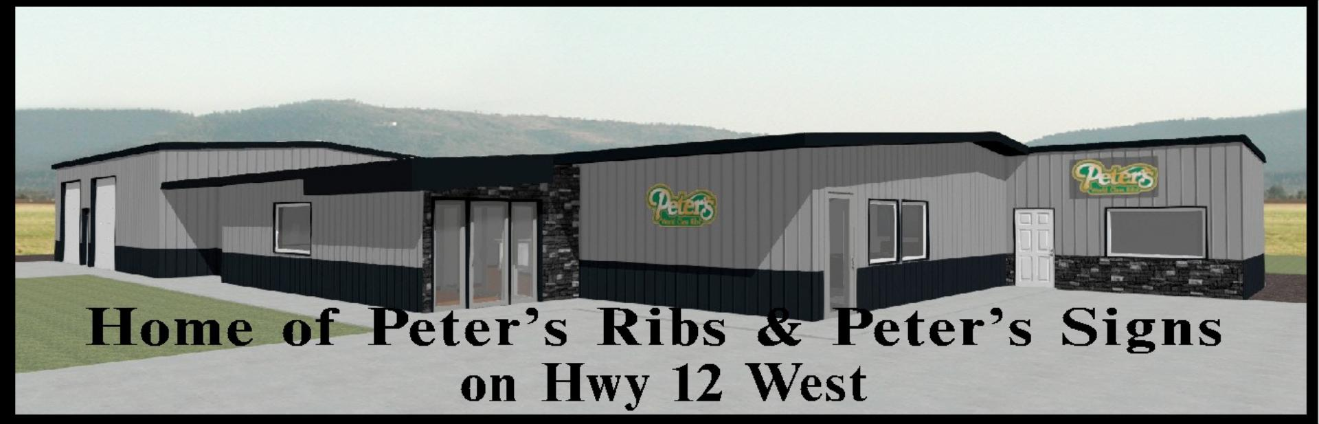 Home of Peter's Ribs & Peter's Sign on Hwy 12 West
