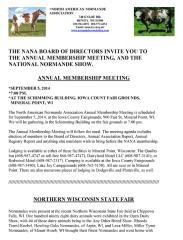 North American Normande Association 748 Enloe Rd Rewey, WI 53580