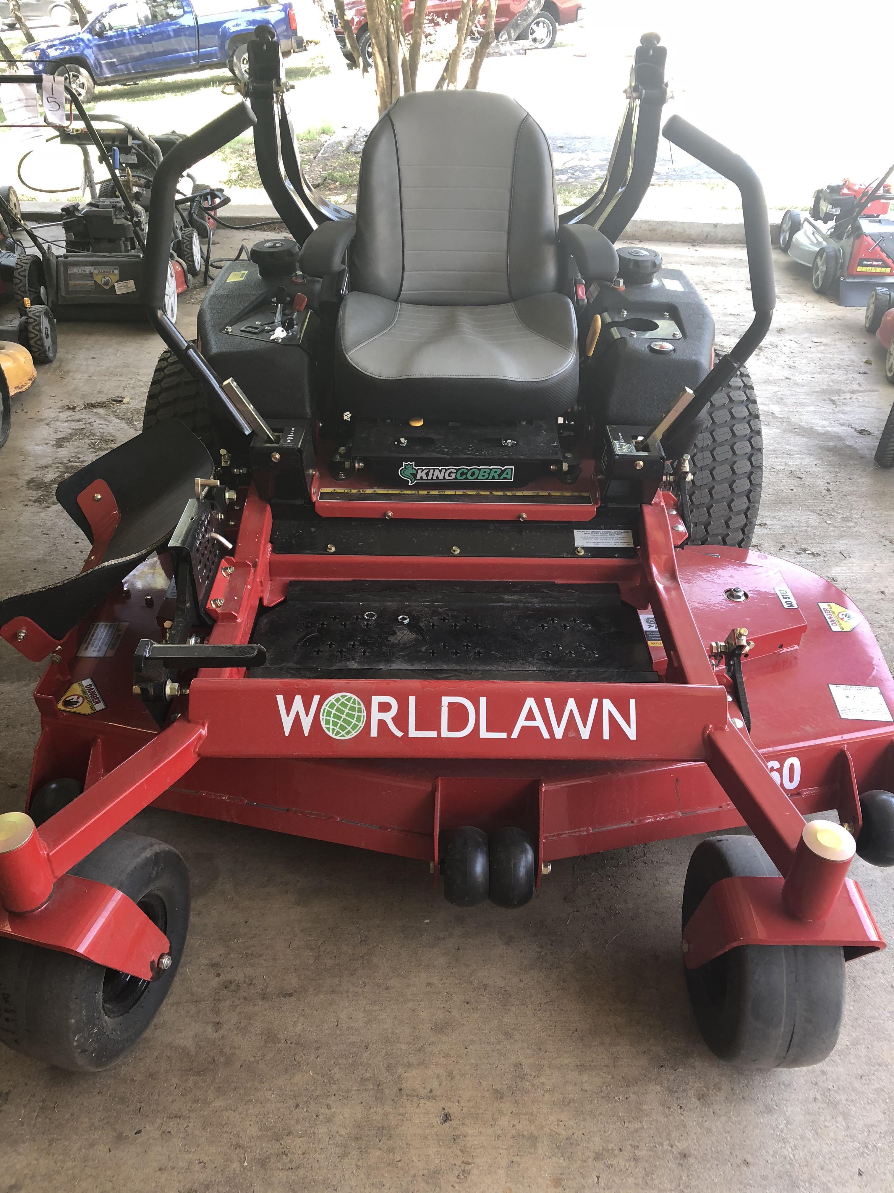 "Worldlawn King Cobra 60"" commercial mower"
