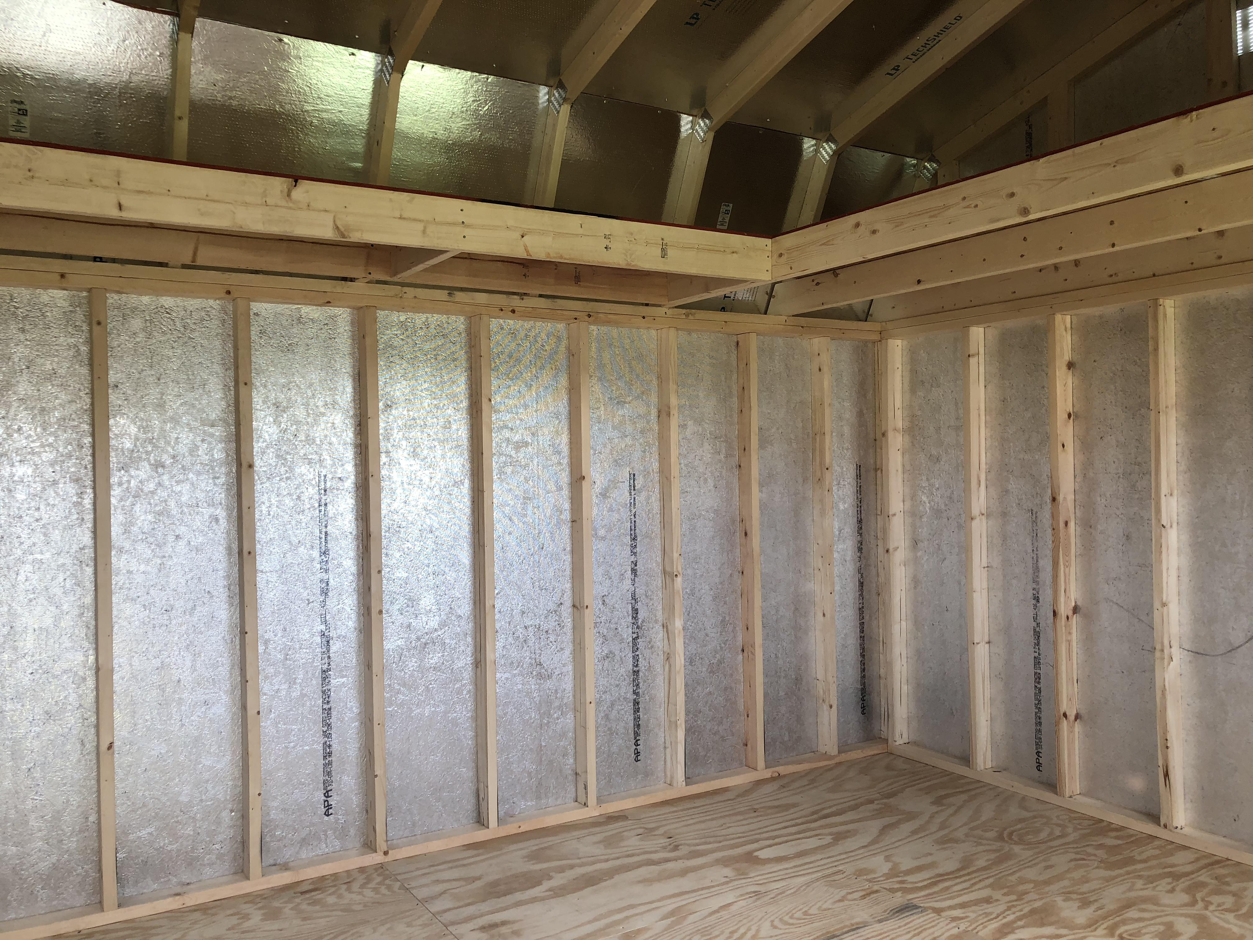 12x24 Lofted painted Garden Shed
