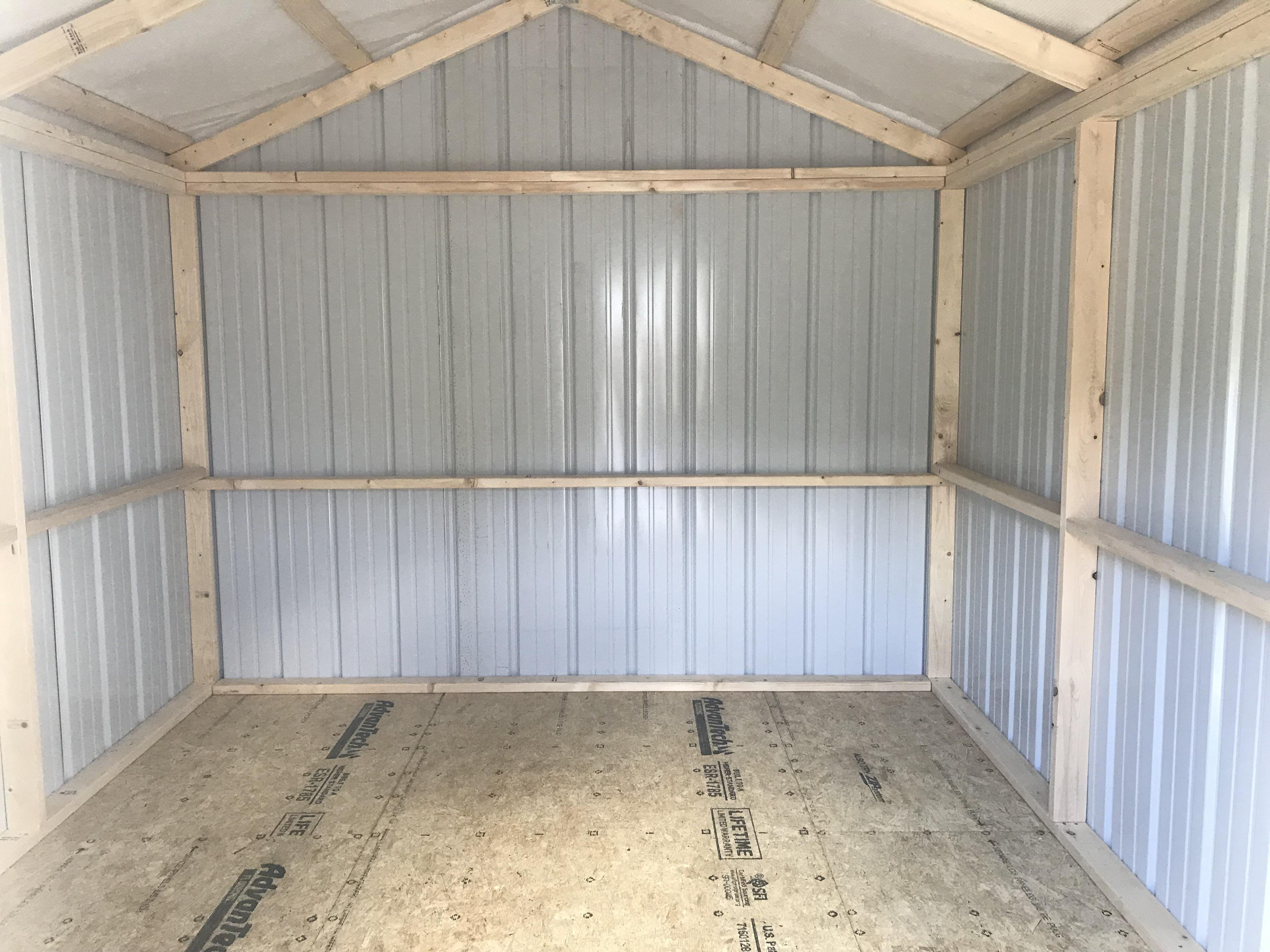 Metal 10x12 value series utility shed