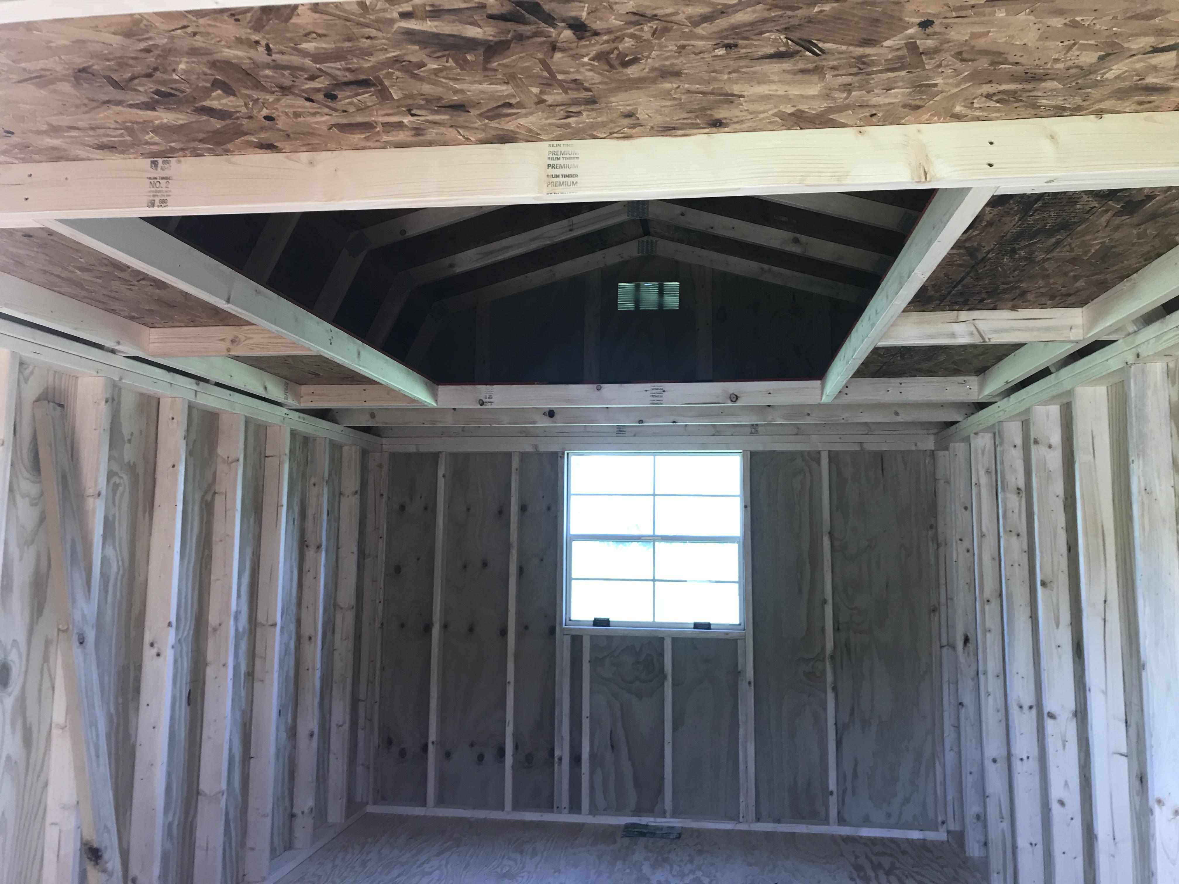 Treated 10x16 Lofted Barn