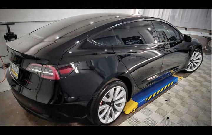 pittsburgh tesla blacked out chrome delete